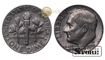 Монеты США , 10 центов - 1975 год D