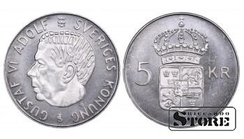 1955 Sweden King Gustaf VI Adolf (1950 - 1973) Coin Coinage Standard 5 Kronor KM#829 #SW118