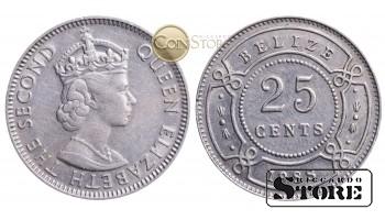 Белиз , 25 центов 1988 год
