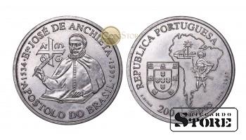 Португалия , 200 эскудо, 1997 год (400 лет со дня смерти Хосе де Анчьета)