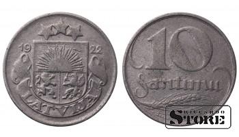 Монеты Латвии, 10 сантим 1922 год