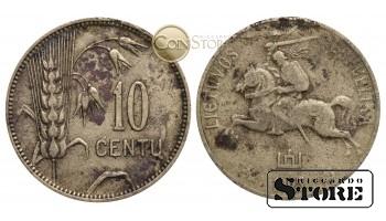 Литва , 10 центов 1925 год , Алюминиевая бронза