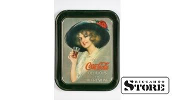 "Металический поднос COCA- COLA ""Delicious and Refreshing"""