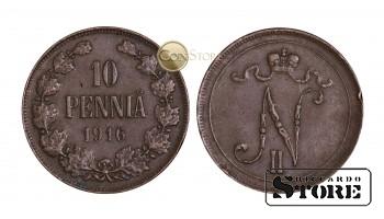 Финляндия , 10 пенни 1916 год