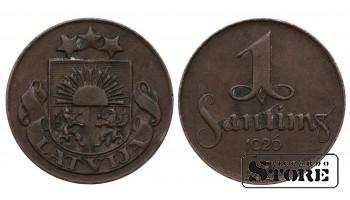 Монеты Латвии, 1 сантим 1926 год