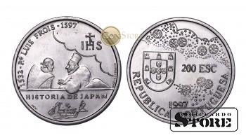 Португалия , 200 эскудо, 1997 год,  (400 лет со дня смерти Луиса Фройса)