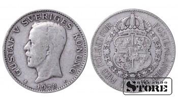 1928 Sweden King Gustav V (1908 - 1950) Coin Coinage Standard 1 krona KM# 786 #13