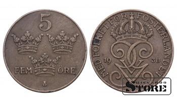 5 ЭРЕ ШВЕЦИЯ 1938 ГОД KM# 779.2
