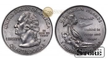 Монеты США , 1/4 доллара - 2009 год P (Квотер Американских Виргинских островов)