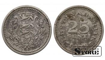 Эстония , 25 сентов 1928 год , Медно-никель