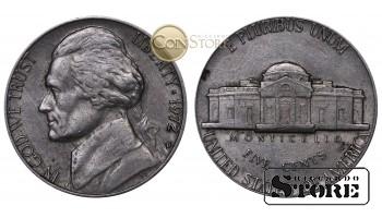 Монеты США , 5 центов - 1972 год D