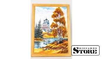 Янтарная картина, Пейзаж с церковью