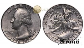 Монеты США , 1/4 доллара - 1976 год D (200 лет независимости США)