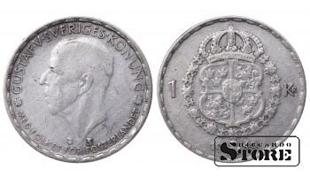 1949 Sweden King Gustav V (1908 - 1950) Coin Coinage Standard 1 Krona KM#814 #SW127