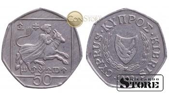 Kipra , 50 centi 1993 gads