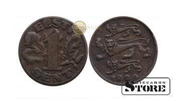 Эстония ,1 сантим 1929 год