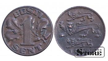 1 сантим 1929 год , Эстония