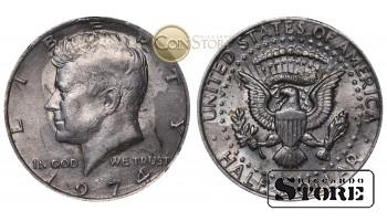 Монеты США , ПОЛДОЛЛАРА  , 1974 год