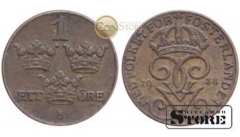 Швеция , 1 эре 1938 год