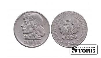 Польша, 10 злотых 1966 год - Тадеуш Костюшко