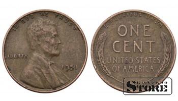1 ЦЕНТ США 1951 ГОД KM# A132