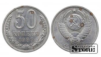 МОНЕТА, СССР , 50 КОПЕЕК 1989 ГОД