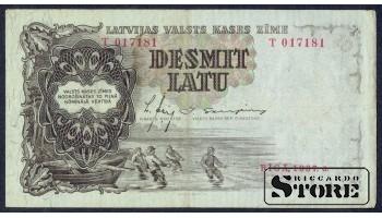 БАНКНОТА , ЛАТВИЯ , 10 ЛАТ 1937 - T 017181