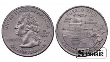 1/4 ДОЛЛАРА 2009 ГОД - Puerto Rico P