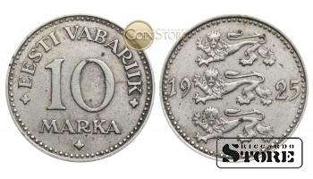 Эстония , 10 марок 1925 год , Никелевая бронза