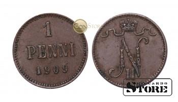 ФИНЛЯНДИЯ , 1 ПЕННИ 1909 ГОД