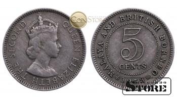 Малайя и Британское Борнео, 5 центов 1953 год