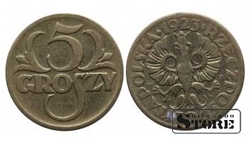 Польша, 5 грошей -  1923 год