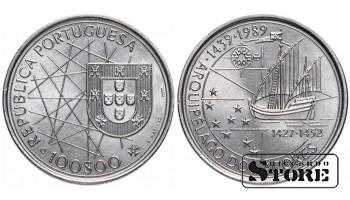 100 эскудо 1989 Португалия — Золотой век открытий — Открытие острова Мадейра