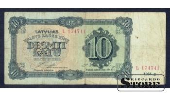 Банкнота , 10 лат 1934 год - L 174741