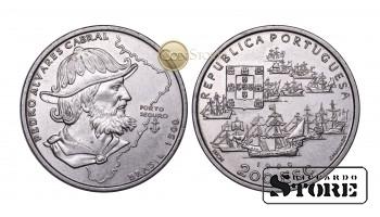 Португалия , 200 эскудо, 1999 год (500 лет с момента высадки Педро Альваро Кабрала в Бразилии)