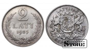 1925 Latvia First Republic (1922 - 1940) Coin Coinage Standard 2 Lati KM#8 #LV476