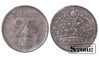 1958 Sweden King Gustaf VI Adolf (1950 - 1973) Coin Coinage Standard 25 Ore KM#824 #SW170