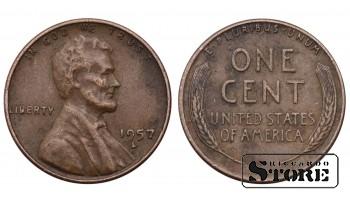 1 ЦЕНТ США 1957 ГОД KM# A132