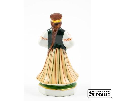 Фарфоровая статуэтка Народный танец фабрики М. С. Кузнецова вид 4