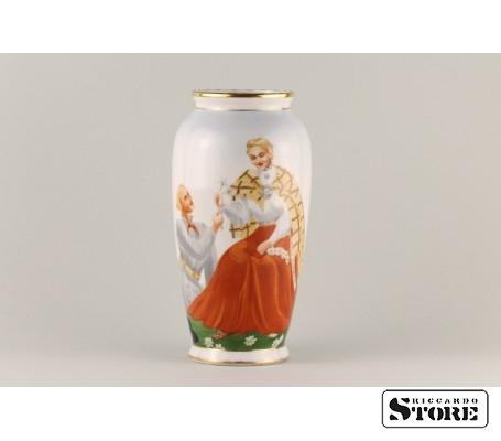 Фарфоровая ваза Кутузовская Народный мотив вид 6