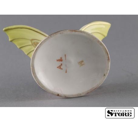 Фарфоровая статуэтка Бабочка, Малиновая. Вид 8