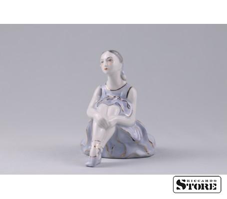 Фарфоровая статуэтка Балерина. Рижский фарфор. (Велта) Вид 1