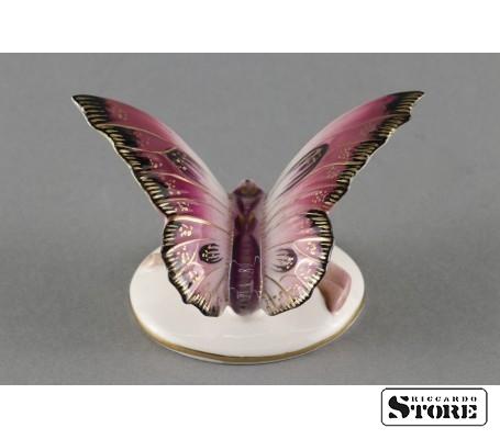Фарфоровая статуэтка Бабочка, Малиновая. Вид 1