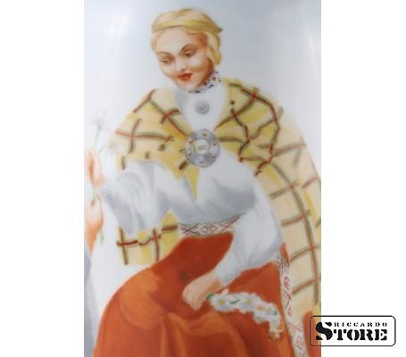 Фарфоровая ваза Кутузовская Народный мотив вид 11