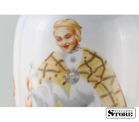 Фарфоровая ваза Кутузовская Народный мотив вид 10