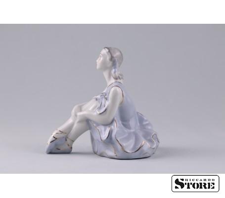 Фарфоровая статуэтка Балерина. Рижский фарфор. (Велта) Вид 2