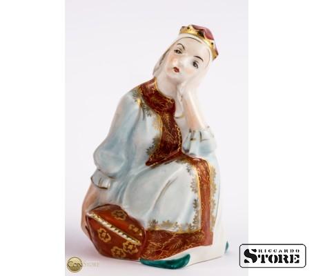 Фарфоровые статуэтки Царь Горох и Царевна Несмеяна вид 4