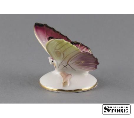 Фарфоровая статуэтка Бабочка, Малиновая. Вид 4