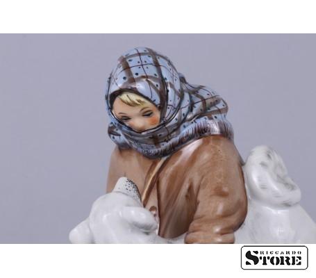 Фарфоровая статуэтка Укутыш с собакой вид 10