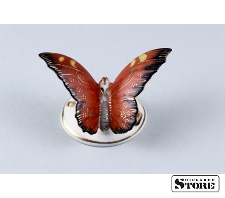Фарфоровая статуэтка Бабочка, Пуансетии вид 1